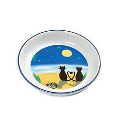 Миска Karlie-Flamingo Cat & Moon для кошек керамика, с рисунком, 200 мл