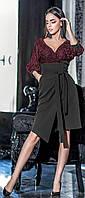 Облегающее платье миди с сеткой  42-48 р Ванесса, женские нарядные платья оптом от производителя