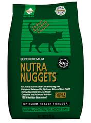 Nutra Nuggets Indoor Hairball (Хаербол) корм для кошек, не выходящих на улицу, 18.14 кг