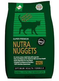 Nutra Nuggets Indoor Hairball (Хаербол) корм для кошек, не выходящих на улицу, 10 кг
