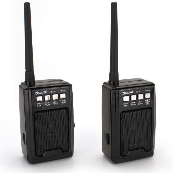 Радио с функцией рации PTT USB SD Golon RX-D3 (2шт)