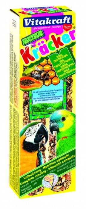 Крекер Vitakraft для средних и крупных попугаев с медом и фруктами, 2 шт