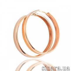 Золотые серьги кольца