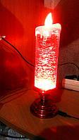 Лава лампа Светильник торнадо новогодняя свеча с блестками S-900 белая