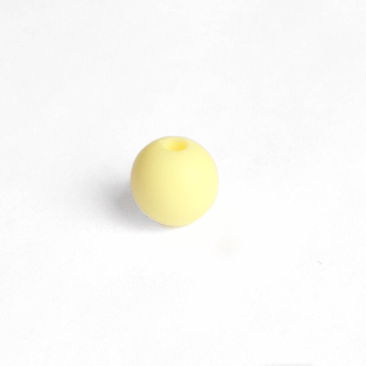 9мм (кремовый) круглая, силиконовая бусина