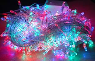 Гирлянда светодиодная - 8 метров, разноцветная. Xmas LED 100 M-1
