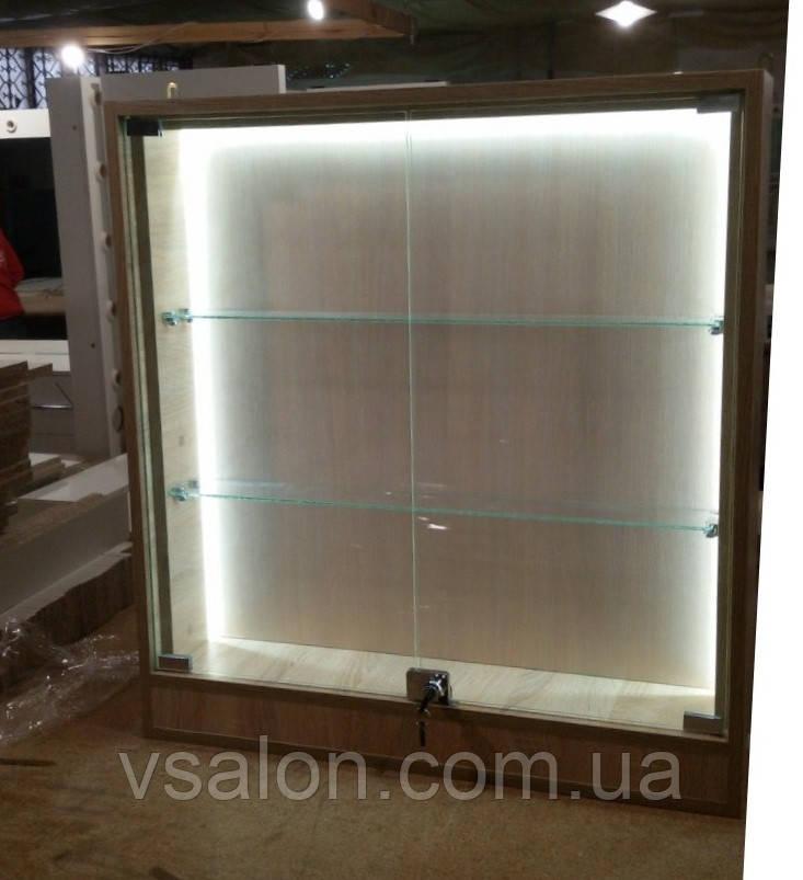Виставкова вітрина скляна з підсвічуванням V326
