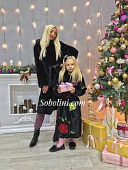 Шубы  мама и дочка норковые
