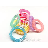 Резинки «бейби Спиральки» разноцветные 10шт