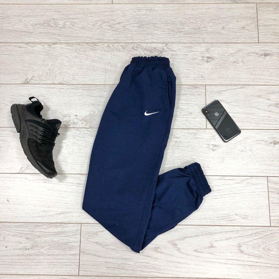 Штаны Nike Спортивные синие (Найк) мужские трикотажные