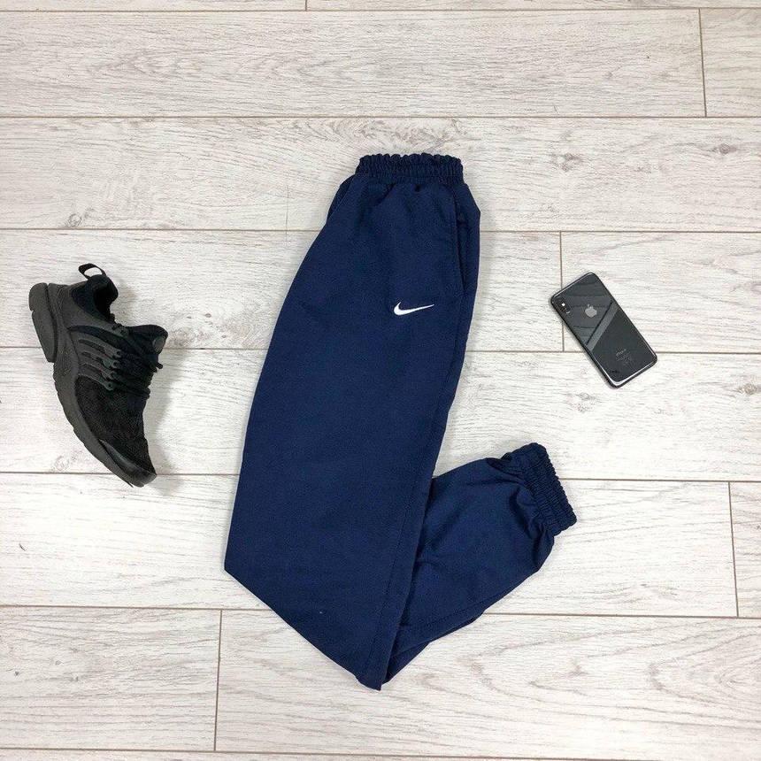 Штаны Nike Спортивные синие (Найк) мужские трикотажные, фото 2