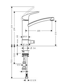 31803000 Focus E2 смеситель кухонный с запорным вентилем для  посудомоечной машины, фото 2