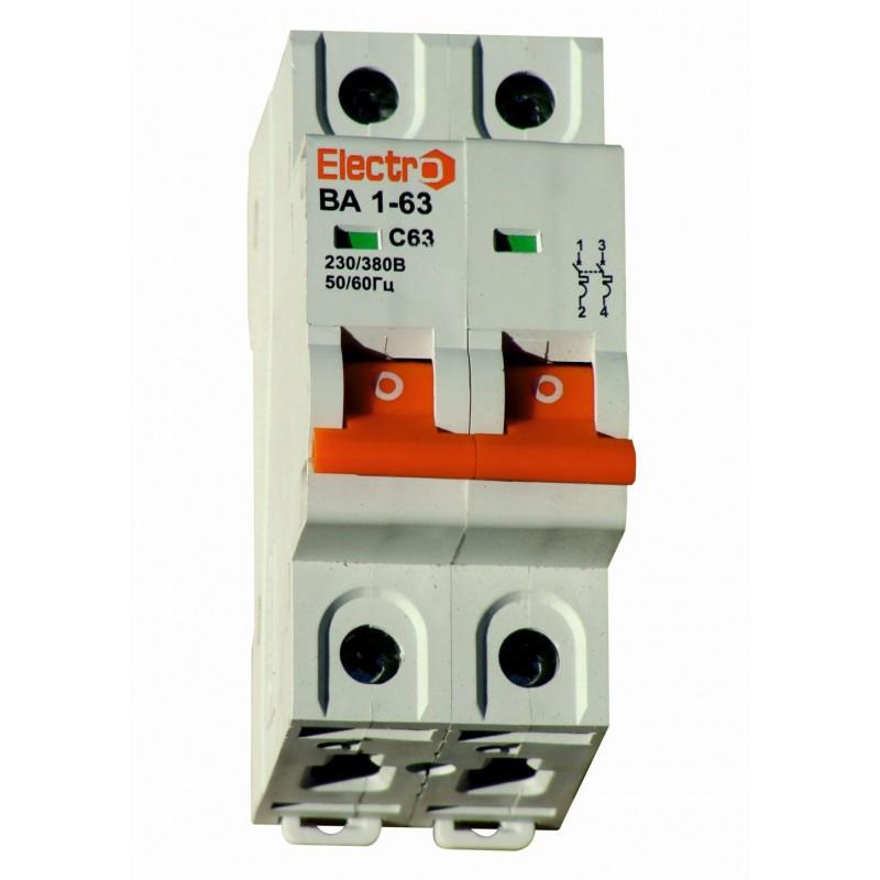 Выключатель автоматический ВА1-63 2 полюса 6A  6кА  тип С  5-10 In