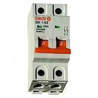 Выключатель автоматический ВА1-63 2 полюса 6A  6кА  тип С  5-10 In, фото 1