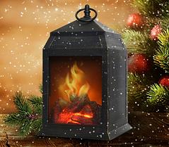 Ліхтар-нічник з ефектом живого вогню Затишок каміна
