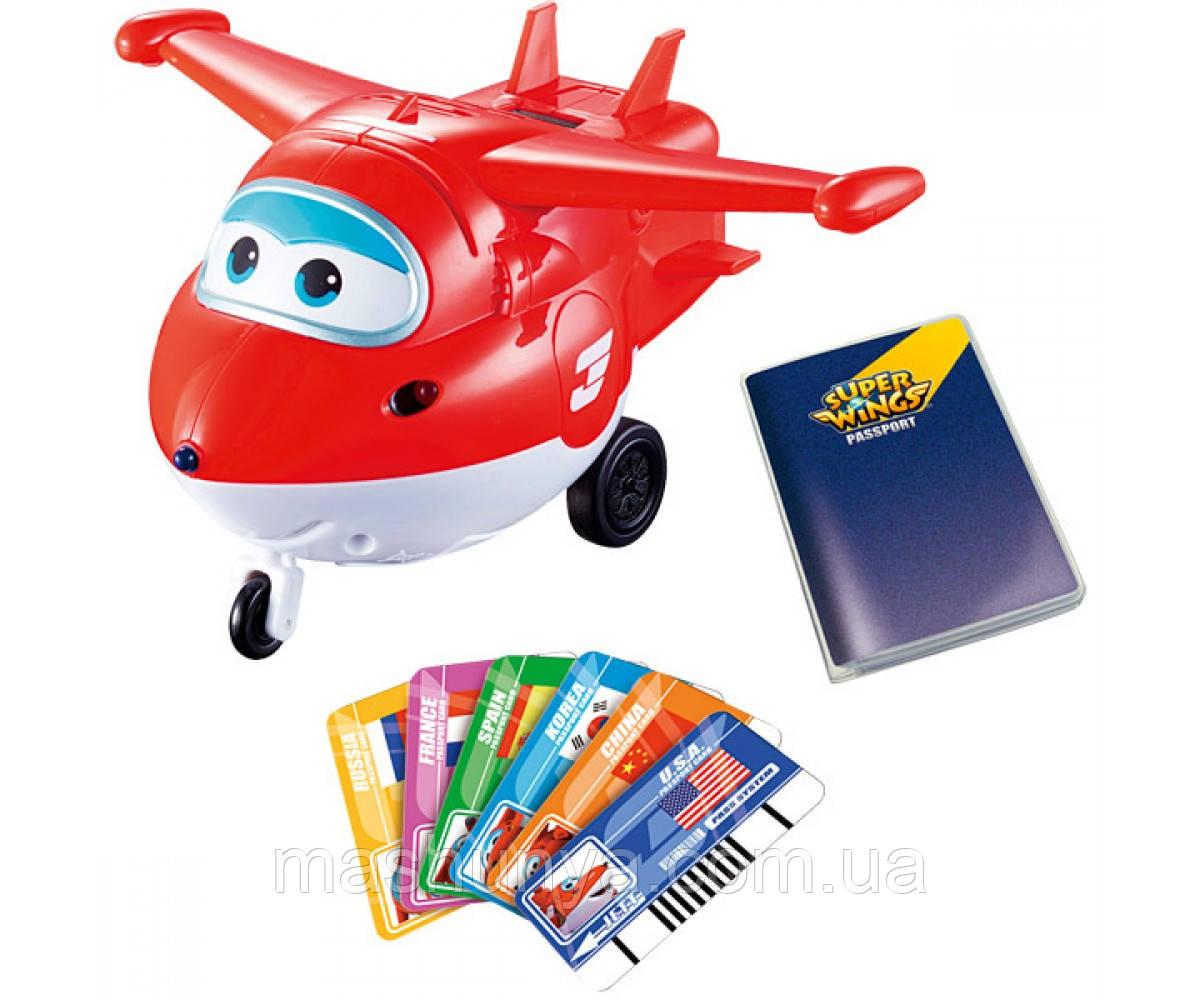 Игрушка Super Wings Jett Супер крылья с карточками YW710410