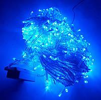 Гирлянда светодиодная - 8 метров, синяя. Xmas LED 100 B-1