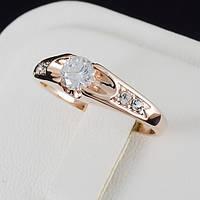 Пленительное кольцо с кристаллами Swarovski и c позолотой 0461