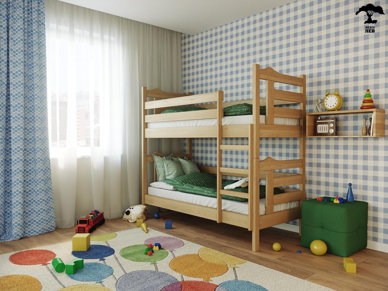Двухъярусная кровать Санта 80х190 см. Лев Мебель