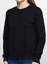 Свитшот женский на флисе, темно-синий, фото 2