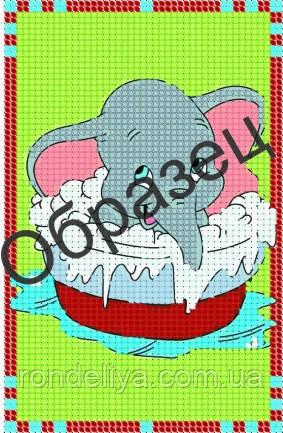 Схема для вышивки бисером «Слоник»