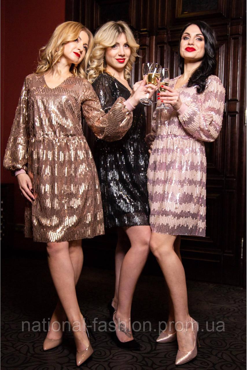 Женское вечернее платье с пайетками SL 1117 (р 42-48)