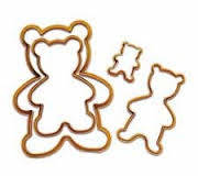 """Форма для печенья пластик """"Медведи"""" 4шт (код 01510)"""