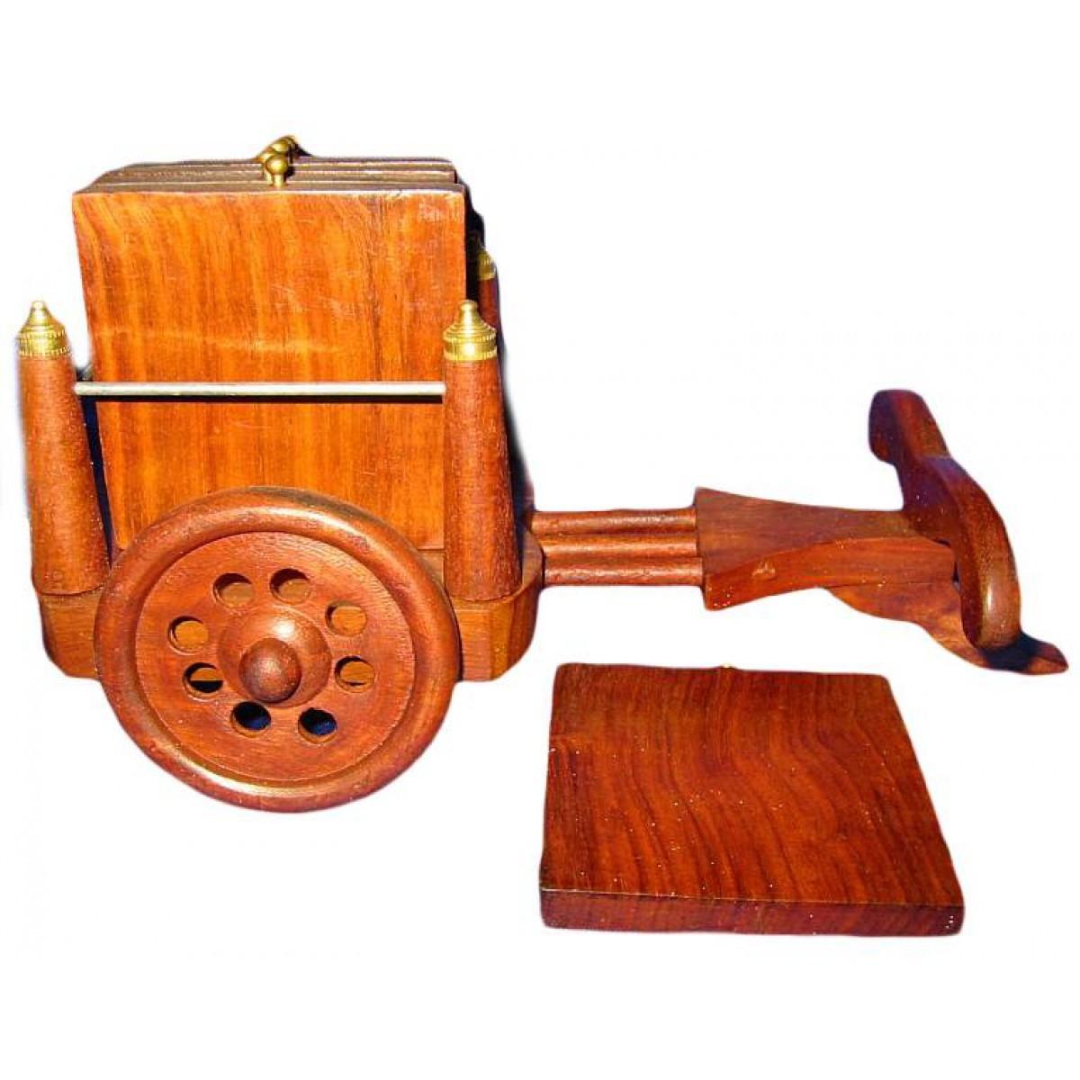 Подстаканники деревянные набор 6 шт