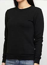 Світшот жіночий на флісі, під принт, чорний, фото 2