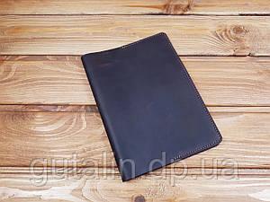 Обкладинка для блокнова А5 з натуральної шкіри ручної роботи колір коричневий