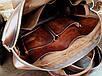 Мужская сумка ручной работы из натуральной кожи Офисная Италия цвет коричневый , фото 6