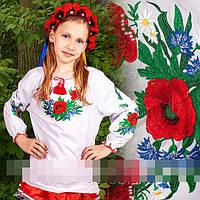 """Рубашка для девочки """" Волошки  """" (В.О.В.), фото 1"""