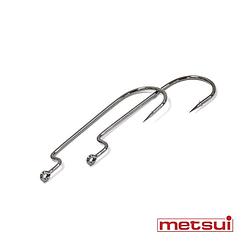 Крючки metsui OFFSET ROUND WORM цвет bln, размер № 4/0, в уп. 6 шт.