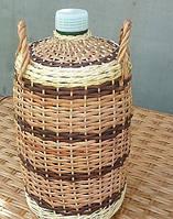 Плетеный бутыль из лозы 5л
