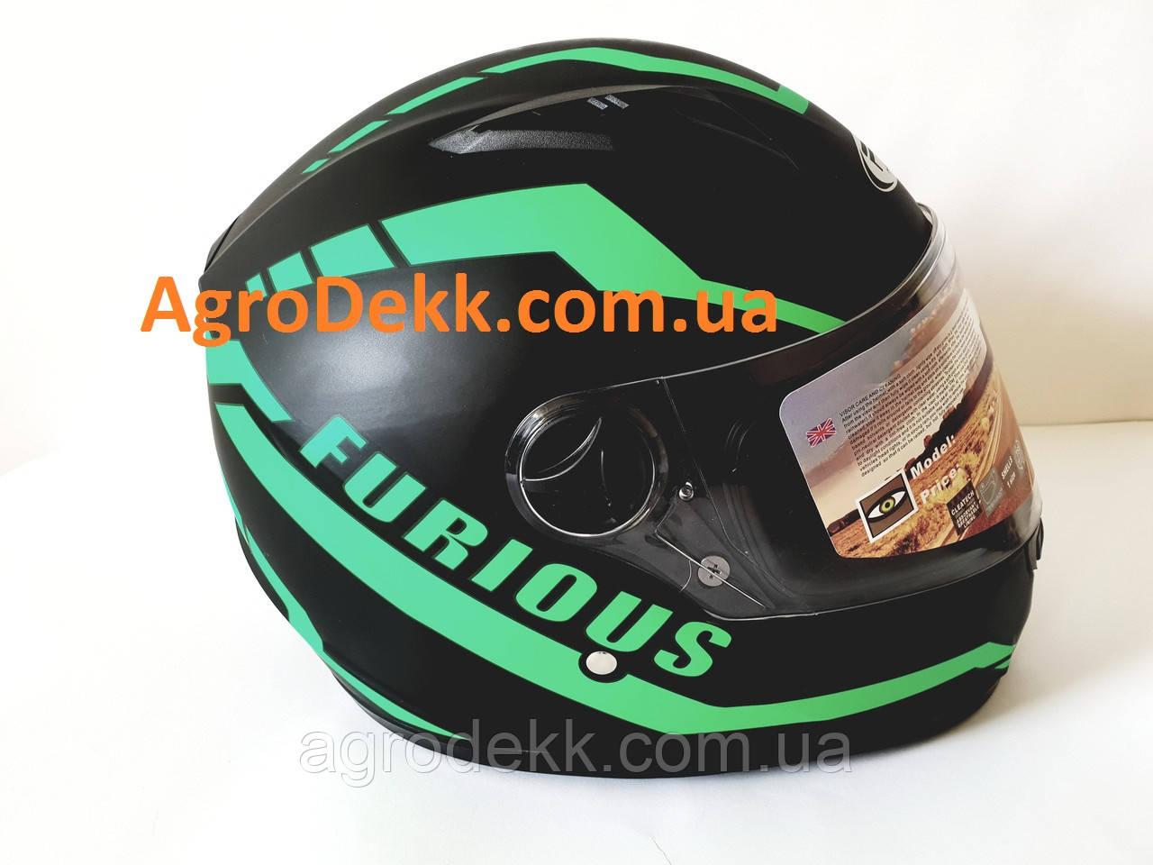 Шлем для мотоцикла Hel-Met 111 черный мат с полоской