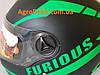 Шлем для мотоцикла Hel-Met 111 черный мат с полоской, фото 6