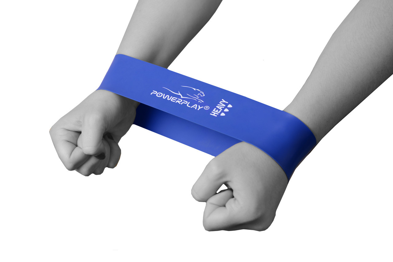 Фітнес резинка PowerPlay 4114 Heavy Синя