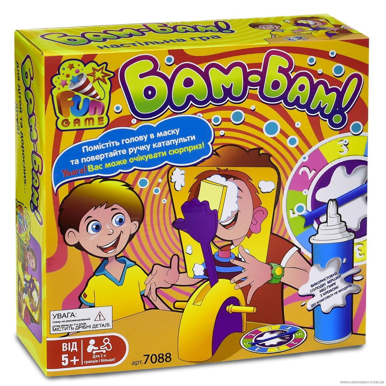 Настольная развлекательная игра  Бам-Бам