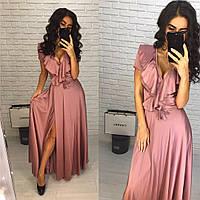 Женское роскошное шелковое платье (расцветки), фото 1