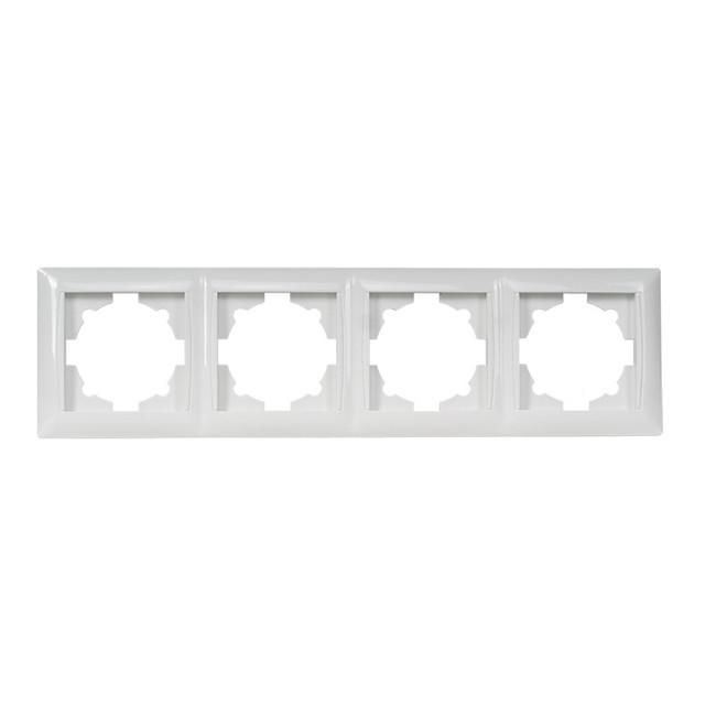 Рамка 4-я горизонтальная Primera белая 3024 (LUXEL)