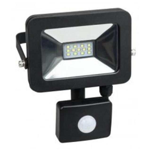 Прожектор LED SMD slim 10W 6500К з датчиком руху (LPES-10C) LUXEL матрична (SMD) (ГАРАНТІЯ 2 РОКИ)