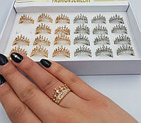 Кольцо корона золото серебро оптом в категории кольца и перстни в ... 10ea182f3595c
