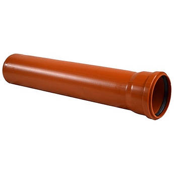 Труба пвх руда ду110*0.5 метр каналізаційна для зовнішньої прокладки sn1