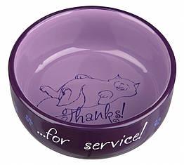 Миска Trixie Thanks for Service для кошек, керамика, 0.3 л