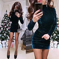 Платье велюр, фото 1