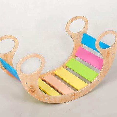 Деревянная качелька -многофункциональная для детей