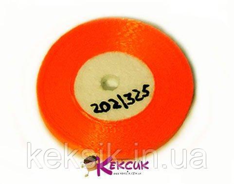 Стрічка Атласна абрикосово-оранжевий