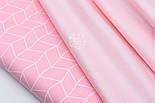 """Сатин ткань """"Мелкие полоски"""" пудровые на белом №1709с, фото 5"""