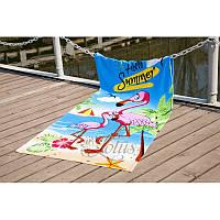 Пляжное полотенце 75х150 Lotus Flamingo
