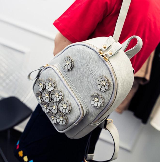 """Женский рюкзак """"Сепфора"""" с цветочками и стразами, """"Sepfora"""" 1041 - фото 10"""